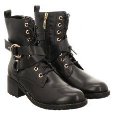 Fernando Strappa kurzer Glattleder-Stiefel in schwarz für Damen