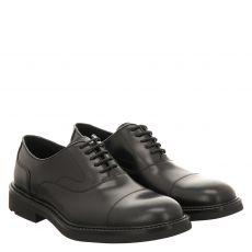 Lloyd, Jeremy, eleganter Glattleder-Schnürer in schwarz für Herren