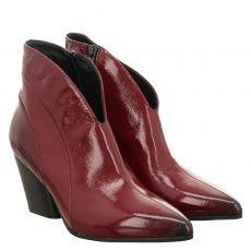 Thea Mika, Kris 60, kurzer Knautschlack-Stiefel in rot für Damen