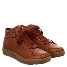 Ara, High Soft, kurzer Glattleder-Stiefel in cognac für Damen