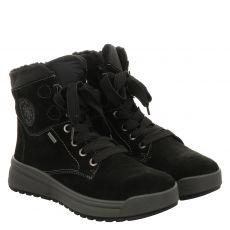 Ara, Aspen, kurzer Veloursleder-Stiefel in schwarz für Damen