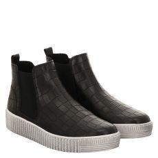 Gabor kurzer Glattleder-Stiefel in schwarz für Damen