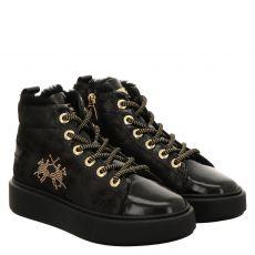 La Martina, Schu, kurzer Lackleder-Stiefel in schwarz für Damen