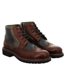 Galizio Torresi, Braun, eleganter Glattleder-Stiefel in mehrfarbig für Herren