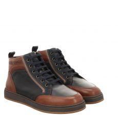 Galizio Torresi sportiver Glattleder-Stiefel in blau für Herren
