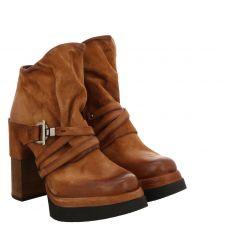 As 98 (airstep), Fenis, kurzer Veloursleder-Stiefel in braun für Damen