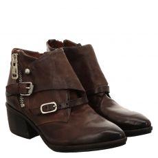 As 98 (airstep), Parade, kurzer Glattleder-Stiefel in braun für Damen