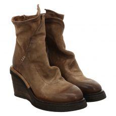 As 98 (airstep), Tall, kurzer Nubukleder-Stiefel in braun für Damen