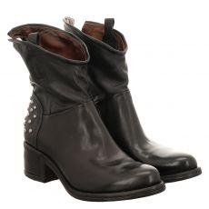 As 98 (airstep), Opea, kurzer Glattleder-Stiefel in schwarz für Damen