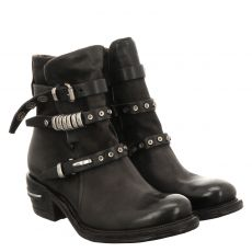 As 98 (airstep), Ignix, kurzer Veloursleder-Stiefel in schwarz für Damen
