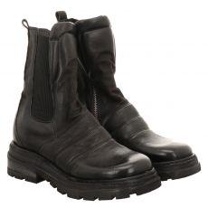 As 98 (airstep), Louise, kurzer Nubukleder-Stiefel in schwarz für Damen