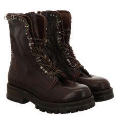 As 98 (airstep), Enter, kurzer Glattleder-Stiefel in braun für Damen