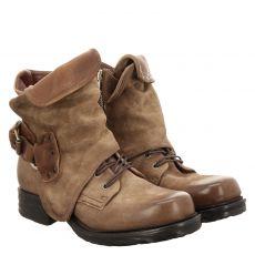 As 98 (airstep), Saintec, kurzer Veloursleder-Stiefel in beige für Damen
