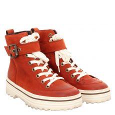 Paul Green, 0067-4852-057/stiefelette, kurzer Nubukleder-Stiefel in rot für Damen
