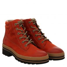 Paul Green, 0067-9783-027, warmer Nubukleder-Stiefel in rot für Damen