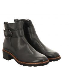 Paul Green, 0067-9576-037/stiefelette, kurzer Glattleder-Stiefel in schwarz für Damen