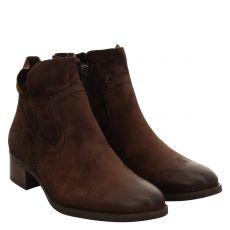 Paul Green, 9611-087, kurzer Veloursleder-Stiefel in braun für Damen