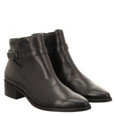 Paul Green, 0067-9750-007, kurzer Glattleder-Stiefel in schwarz für Damen
