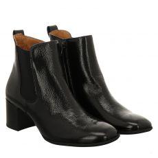 Paul Green, 0067-9796-007, kurzer Knautschlack-Stiefel in schwarz für Damen
