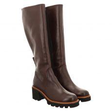 Paul Green, 0067-9876-017, hoher Glattleder-Stiefel in braun für Damen