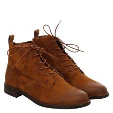 Paul Green, 0067-9661-007/schnürstiefelett, kurzer Veloursleder-Stiefel in braun für Damen