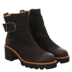Paul Green, 0067-9770-017, kurzer Nubukleder-Stiefel in schwarz für Damen