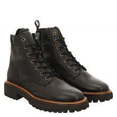 Paul Green, 0067-9816-007, kurzer Glattleder-Stiefel in schwarz für Damen