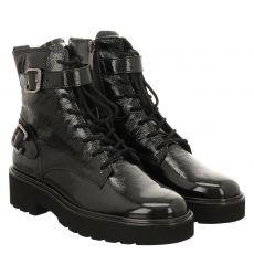 Paul Green, 0067-9771-007, kurzer Knautschlack-Stiefel in schwarz für Damen