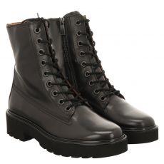 Paul Green, 0067-9820-007, kurzer Glattleder-Stiefel in schwarz für Damen