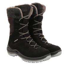 Lowa, Barina Ii, warmer Veloursleder-Stiefel in schwarz für Damen