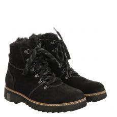 Waldläufer, Hitomi, Veloursleder-Fußbettschuh in schwarz für Damen