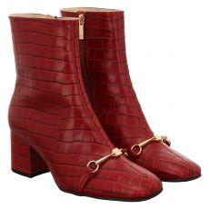 Högl kurzer Glattleder-Stiefel in rot für Damen