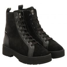 Högl kurzer Veloursleder-Stiefel in schwarz für Damen