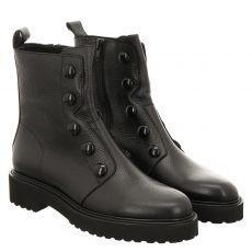 Luca Grossi, Kosp30, kurzer Glattleder-Stiefel in schwarz für Damen