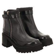 See By Chloé, 12190, kurzer Glattleder-Stiefel in schwarz für Damen