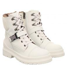 Bogner, St. Moritz 5a, kurzer Glattleder-Stiefel in weiß für Damen