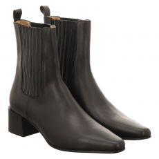Pomme D'or, Vivienne, kurzer Glattleder-Stiefel in schwarz für Damen