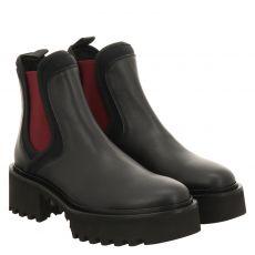 Roberto Festa, Bonn, kurzer Glattleder-Stiefel in schwarz für Damen
