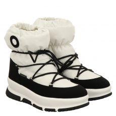 Schuhengel kurzer High-Tech-Stiefel in weiß für Damen
