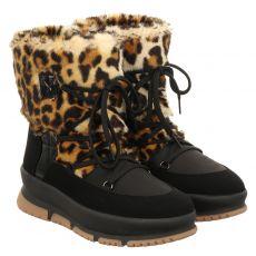 Schuhengel kurzer Nylon-Stiefel in schwarz für Damen