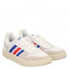 Adidas, Hoops2.0, sportiver Schnürer in weiß für Herren