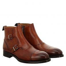 Magnanni, Braun, eleganter Glattleder-Stiefel in cognac für Herren