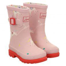 Joules, Welly Print, Regenstiefel in rosé für Mädchen