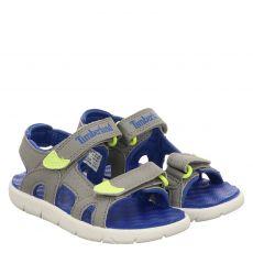 Timberland, Perkins Row 2 Stap, Kunstleder-Sandale in grau für Jungen