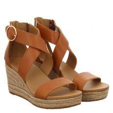 Ugg, Hylda, Glattleder-Sandalette in braun für Damen