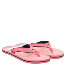 Tommy Hilfiger, Rot, Textil-Pantolette in rosé für Mädchen