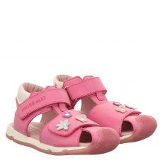 Daeumling, Rot, Nubukleder-Sandale in rosé für Mädchen