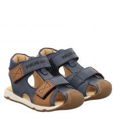 Daeumling Glattleder-Sandale in blau für Jungen