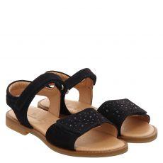 Schuhengel Veloursleder-Sandale in blau für Mädchen