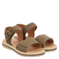 Schuhengel Nubukleder-Sandale in braun für Mädchen